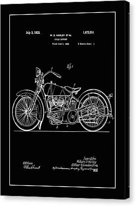 Harley Motorcycle Support Patent 1j Canvas Print