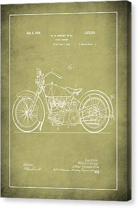 Harley Motorcycle Support Patent 1k Canvas Print