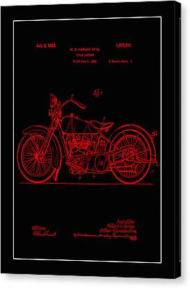 Harley Motorcycle Support Patent 1l Canvas Print
