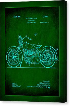 Harley Motorcycle Support Patent  Canvas Print