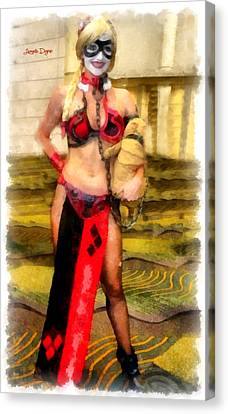 Slaves Canvas Print - Harley Quinn At Star Wars - Da by Leonardo Digenio