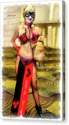Harley Quinn At Star Wars Canvas Print by Leonardo Digenio