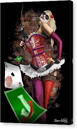 Harley Quinn Canvas Print by Brett Hardin