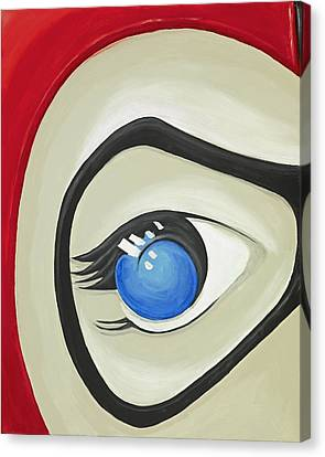Harley Quinn Eye Canvas Print