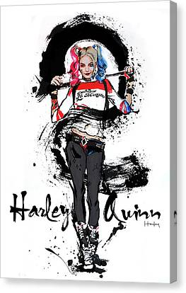 Harley Quinn Canvas Print by Haze Long
