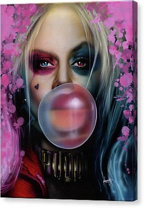 Harley Quinn Canvas Print by Luis Navarro