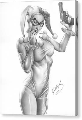 Comic Book Canvas Print - Harley Quinn by Pete Tapang