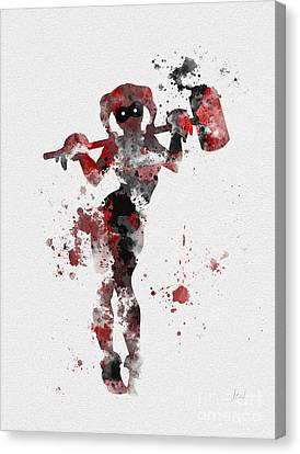 Comic Book Canvas Print - Harley Quinn by Rebecca Jenkins