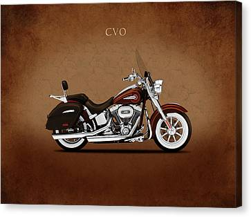 Harley Softail Deluxe Canvas Print by Mark Rogan
