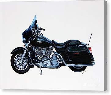 Harley Davidson Street Glide Canvas Print by Janet Felts