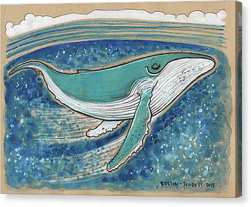 Harmonious Humpback Whale Canvas Print by Maria Bolton-Joubert