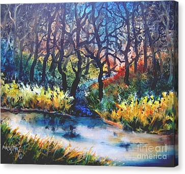 Canvas Print featuring the painting Harmony 1 by Marta Styk