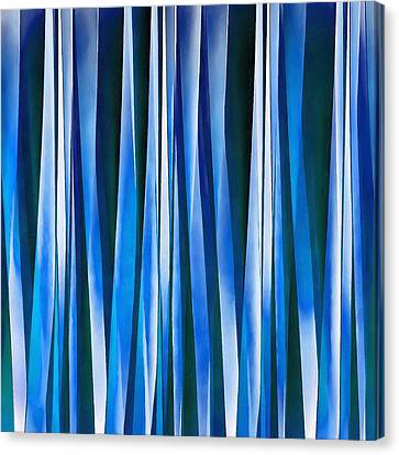 Harmony And Peace Blue Striped Abstract Pattern Canvas Print