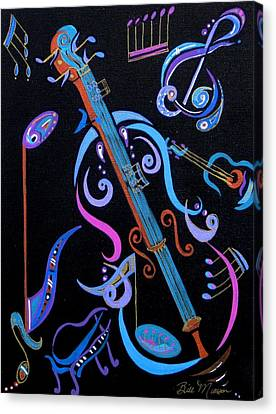 Harmony In Strings Canvas Print by Bill Manson