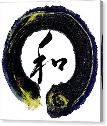 Harmony - Peace With Enso Canvas Print by Peter v Quenter