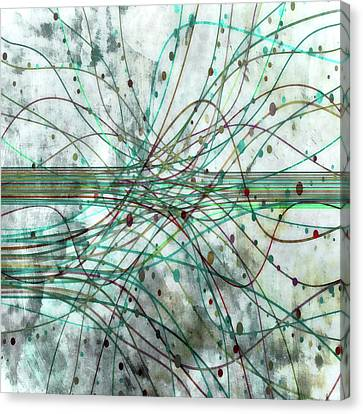 Canvas Print featuring the digital art Harnessing Energy 3 by Angelina Vick