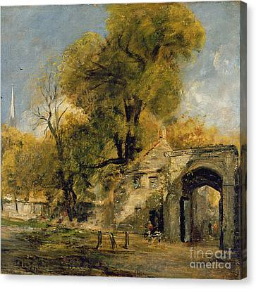 Harnham Gate - Salisbury Canvas Print by John Constable