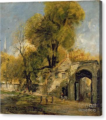 Harnham Gate - Salisbury Canvas Print by John Constable