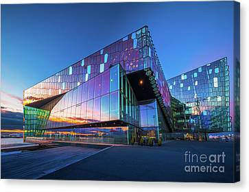 South Hall Canvas Print - Harpa Concert Hall by Inge Johnsson
