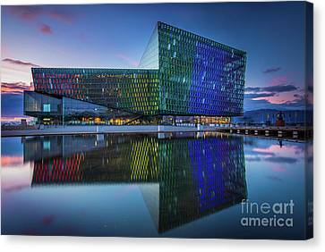 Centre Canvas Print - Harpa by Inge Johnsson