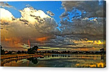 Canvas Print featuring the photograph Harper Lake by Eric Dee