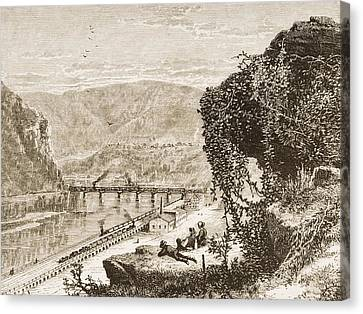 Harpers Ferry Circa 1870s. From Canvas Print by Vintage Design Pics