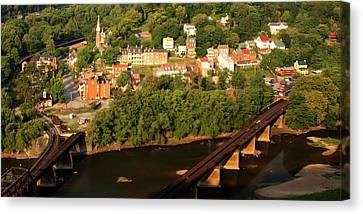 Canvas Print featuring the photograph Harpers Ferry by Mitch Cat