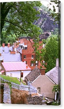 Harpers Ferry Overlook Canvas Print by Larry Darnell