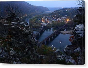 Harpers Ferry Wv Canvas Print by Bernard Chen