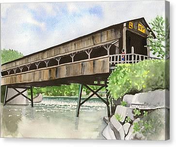 Harpersfield Bridge Canvas Print