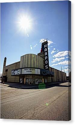 Harpos Concert Theatre - Detroit Michigan Canvas Print by Gordon Dean II