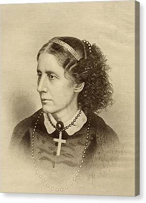 Harriet Beecher Stowe, 1811-1896 Canvas Print by Vintage Design Pics