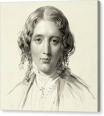 Harriet Beecher Stowe Canvas Print by Francis Holl