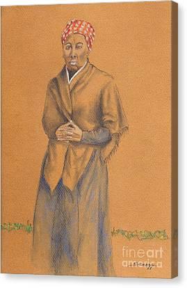 Harriet, Hero -- Portrait Of Harriet Tubman Canvas Print by Jayne Somogy