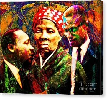 Harriet Tubman Martin Luther King Jr Malcolm X 20160421 Canvas Print by Wingsdomain Art and Photography
