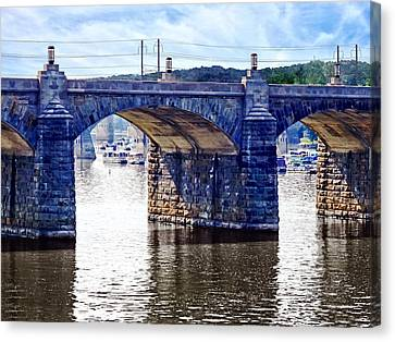 Harrisburg Pa - Market Street Bridge Canvas Print by Susan Savad