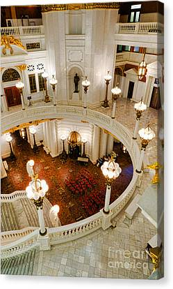 Harrisburg State Capitol Rotunda Canvas Print by Olivier Le Queinec