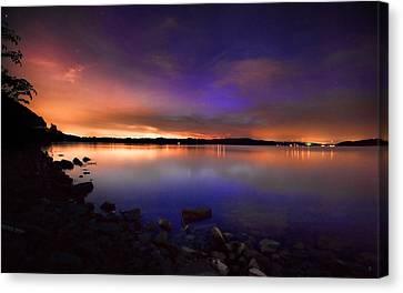 Harrison Bay At Night Canvas Print by Steven Llorca