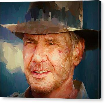 Indiana Landscapes Canvas Print - Harrison Ford Indiana Jones Portrait 1 by Yury Malkov