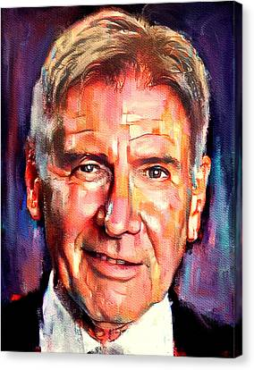 Indiana Landscapes Canvas Print - Harrison Ford Indiana Jones Portrait 2 by Yury Malkov