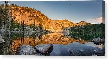 Harrison Lake Panoramic Canvas Print