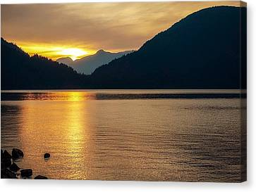 Harrison Lake, British Columbia Canvas Print by Heather Vopni