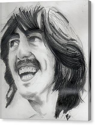 Harrison's Smile Canvas Print by Matt Burke
