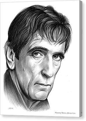 Harry Dean Stanton Canvas Print by Greg Joens