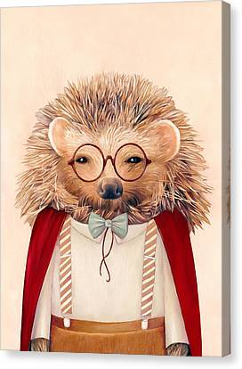 Harry Hedgehog Canvas Print by Animal Crew