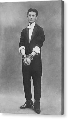 Harry Houdini 1874-1926, In Chains Canvas Print by Everett