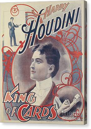 Marketing Stunt Canvas Print - Harry Houdini, King Of Cards, 1895 by American School
