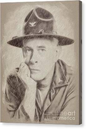 Noir Canvas Print - Harry Morgan, Actor, Mash by Frank Falcon