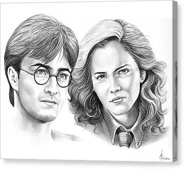 Harry Potter And Hermione Canvas Print by Murphy Elliott