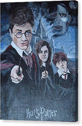 Harry Potter Canvas Print by Julie Cranfill